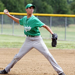 Columbia Jacbobsky Plumbing's Jared Bycznski throws out a pitch. ANNA NORRIS/CHRONICLE