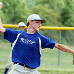 Grafton pitcher Andrew Kuch pitches against Columbia Jacobsky Plumbing. ANNA NORRIS/CHRONICLE