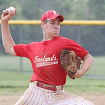South Amherst Firelands Crushers' Jacob Campball pitches against the Ravenna Raptors in the second inning of the Hot Stove Class FF Regional championship game yesterday at Reservoir Park in  …