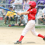 Firelands Big Red's Tim Street hits a single in the fourth inning against Olmsted Falls of the Class GG Hot Stove District game yesterday at Reservoir Park in Grafton. Big Red won the game 2 …