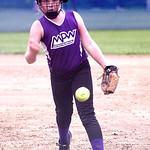 Keystone pitcher Destiny Peters.