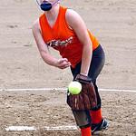 Lorain Xplosion's starting  pitcher #20 Katelyn Janis.
