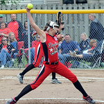 April Howser pitches for Elyria. STEVE MANHEIM/CHRONICLE