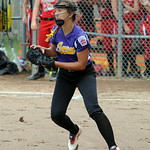 Avon pitcher Hannah Boesger catches a bunt. STEVE MANHEIM/CHRONICLE