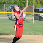 Elyria second baseman Hailey Sykuta catches a pop fly. KRISTIN BAUER | CHRONICLE