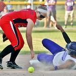 LaGrange's Sammie Stefan steals second base. AMANDA K. RUNDLE/CHRONICLE