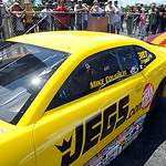Mike Coughlin lines up for top sportsman qualifying at Summite Racing NHRA Nationals in Norwalk on July 4. STEVE MANHEIM/CHRONICLE