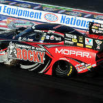 Matt Hagan in funny car qualifying at the NHRA Nationals in Norwalk on July 4. STEVE MANHEIM/CHRONICLE
