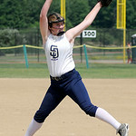 Sun Dogs pitcher Sarah Keating opens against the Ohio Storm. KRISTIN BAUER | CHRONICLE