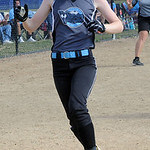 Kate Loughman of Central Ohio Vipers crosses plate after two-run homer in first inn in finals June 30.  Steve Manheim