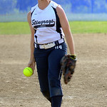 Hannah Robinson pitches for Ohio Stingrays in finals June 30.  steve Manheim