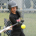 Crushers' Isabella Carosella bats against Firelands. KRISTIN BAUER | CHRONICLE