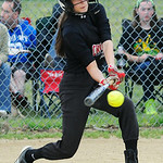 Crushers' Kylie Bishop bats against Firelands. KRISTIN BAUER | CHRONICLE