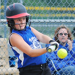 Nancy's Diner's Lenae West bats against South Amherst.  KRISTIN
