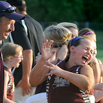 Amy Greene jumps in excitement after Wellington beat Buckeye. KRISTIN BAUER | CHRONICLE