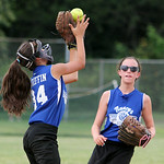 Grafton's Stephanie Griffin catches a short pop-up against the Bristol Panthers. ANNA NORRIS/CHRONICLE