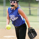 Grafton's Marella McMahon pitches against the Bristol Panthers. ANNA NORRIS/CHRONICLE