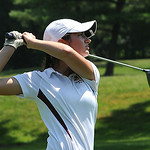 Katie Ruby of Avon Lake tees off. STEVE MANHEIM/CHRONICLE
