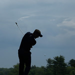 Luke Donald, of England, tees off on the 16th tee during the fourth round of the U.S. Open golf tournament at Merion Golf Club, Sunday, June 16, 2013, in Ardmore, Pa. (AP Photo/Charlie Riede …