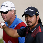 Jason Day, of Australia, acknowledges the gallery after putting on the 17th hole during the fourth round of the U.S. Open golf tournament at Merion Golf Club, Sunday, June 16, 2013, in Ardmo …