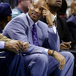 Cleveland Cavaliers head coach Byron Scott watches from the bench during the first half of an NBA basketball game against the Charlotte Bobcats in Charlotte, N.C., Wednesday, April 17, 2013. …