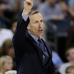 Charlotte Bobcats head coach Mike Dunlap directs his team against the Cleveland Cavaliers during the second half of an NBA basketball game in Charlotte, N.C., Wednesday, April 17, 2013. The  …