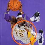 Los Angeles Lakers center Dwight Howard dunks during the first half of their NBA basketball game against the Cleveland Cavaliers, Sunday, Jan. 13, 2013, in Los Angeles. The Lakers won 113-93 …