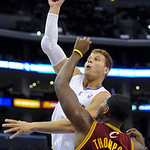 Los Angeles Clippers forward Blake Griffin shoots over Cleveland Cavaliers forward Tristan Thompson (13) in the first half of an NBA basketball game, Monday, Nov. 5, 2012, in Los Angeles. (A …