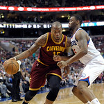 Cleveland Cavaliers' Marreese Speights (15) is shown during an NBA basketball game against the against the Philadelphia 76ers, Sunday, April 14, 2013, in Philadelphia. The 76ers won 91-77. ( …