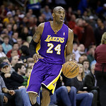 Los Angeles Lakers' Kobe Bryant plays against the Cleveland Cavaliers in an NBA basketball game Tuesday, Dec. 11, 2012, in Cleveland. (AP Photo/Mark Duncan)