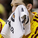 Cleveland Cavaliers' Tyler Zeller watches from the bench late in  the second half of an NBA basketball game against the Indiana Pacers, Wednesday, Dec. 12, 2012, in Indianapolis. The Pacers  …