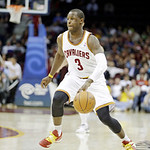 Cleveland Cavaliers' Dion Waiters brings the ball up against the Toronto Raptors in an NBA basketball game Tuesday, Dec. 18, 2012, in Cleveland. (AP Photo/Mark Duncan)