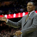 Phoenix Suns head coach Alvin Gentrygestures during the fourth quarter in an NBA basketball game against the Cleveland Cavaliers, Wednesday, Dec. 2, 2009, in Cleveland. The Cavaliers won 107 …