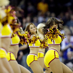The Cavalier Girls perform during an NBA basketball game between the New Orleans Hornets and Cleveland Cavaliers Wednesday, Feb. 20, 2013, in Cleveland. (AP Photo/Mark Duncan)