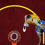 New Orleans Hornets' Anthony Davis, right, goes in for a shot against Cleveland Cavaliers' Tyler Zeller in an NBA basketball game Wednesday, Feb. 20, 2013, in Cleveland. (AP Photo/Mark Dunca …