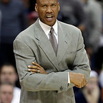 Cleveland Cavaliers head coach Byron Scott reacts during the fourth quarter of an NBA basketball game against the Sacramento Kings, Wednesday, Jan. 2, 2013, in Cleveland. The Kings won 97-94 …