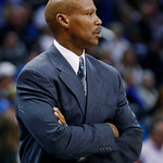 Cleveland Cavaliers head coach Byron Scott watches from the sidelines in the fourth quarter of an NBA basketball game against the Oklahoma City Thunder in Oklahoma City, Sunday, Nov. 11, 201 …