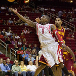 Houston Rockets guard Jermaine Taylor lays the ball up in the first half against the Cleveland Cavaliers in an NBA preseason basketball game Sunday, Oct. 10, 2010, in Houston. The Cavaliers  …
