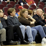 Cleveland Cavaliers fans watch the Cavaliers play the Charlotte Bobcats in the fourth quarter in an NBA preseason basketball game Tuesday, Oct. 5, 2010, in Cleveland. The arena, so rowdy and …