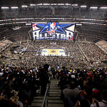 The NBA All-Star basketball game tips off Sunday, Feb. 14, 2010, at Cowboys Stadium in Arlington, Texas. (AP Photo/Tim Sharp)
