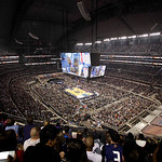 The NBA All-Star basketball game is played Sunday, Feb. 14, 2010, at Cowboys Stadium in Arlington, Texas. (AP Photo/Tim Sharp)