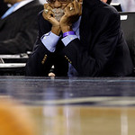 Former NBA basketball player Bill Russell is seen during the NBA All-Star basketball game Sunday, Feb. 14, 2010, at Cowboys Stadium in Arlington, Texas. (AP Photo/LM Otero)