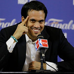 Miami Heat head coach Erik Spoelstra smiles during a post-game news conference following Game 6 in the NBA Finals basketball game against the San Antonio Spurs,  Wednesday, June 19, 2013 in  …