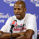 Miami Heat guard Ray Allen speaks during a post game news conference after Game 6 of the NBA Finals basketball game against the San Antonio Spurs , Wednesday, June 19, 2013 in Miami. The Hea …