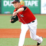 Crushers starting pitcher #31 Dave Middendorf. (CT photo by Linda Murphy.)