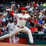 Cleveland Indians relief pitcher Chris Perez delivers against the Chicago White Sox in the ninth inning of a baseball game Sunday, April 14, 2013, in Cleveland. Chicago won 3-1. (AP Photo/Ma …