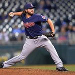 Cleveland Indians relief pitcher Chris Perez throws against the Kansas City Royals in the ninth inning of their second baseball game of a doubleheader, Sunday, April 28, 2013, in Kansas City …