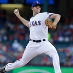 Texas Rangers starting pitcher Nick Tepesch throws during the first inning of a baseball game against the Cleveland Indians, Wednesday, June 12, 2013, in Arlington, Texas. (AP Photo/LM Otero …