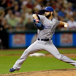 Kansas City Royals relief pitcher Tim Collins delivers against the Cleveland Indians in the eighth inning of a baseball game Tuesday, June 18, 2013, in Cleveland. (AP Photo/Mark Duncan)