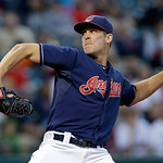 Cleveland Indians relief pitcher Nick Hagadone delivers against the Kansas City Royals in the sixth inning of a baseball game Tuesday, June 18, 2013, in Cleveland. (AP Photo/Mark Duncan)